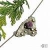 rubin naturalny w srebrze wisior