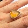 pierścionek z cytrynem