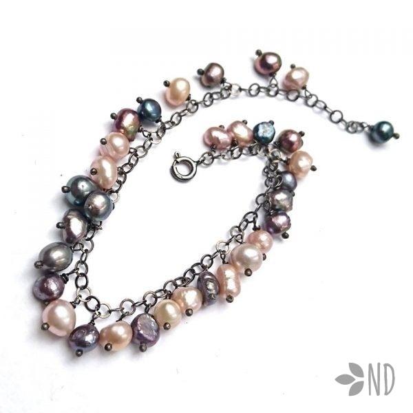 bransoletka z naturalnymi perłami