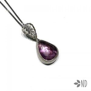 wisior z ametystem srebro biżuteria artystyczna prezent