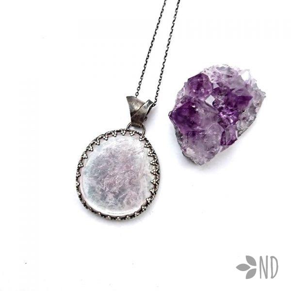 biżuteria naturalna białystok srebro lepidolit