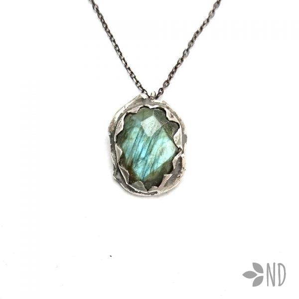 biżuteria artystyczna labradoryt srebro