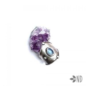 pierścień kianit srebro biżuteria artystyczna