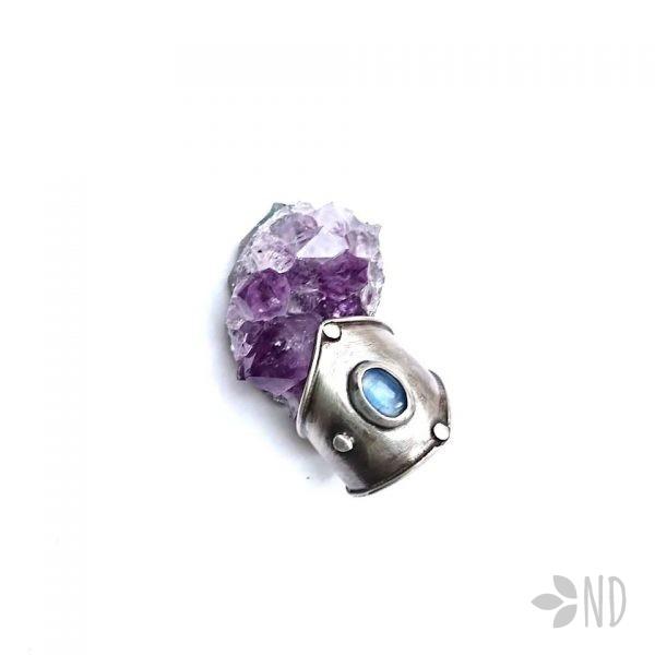 pierścień kianit srebro