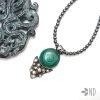 naszyjnik z malachitem srebro biżuteria artystyczna