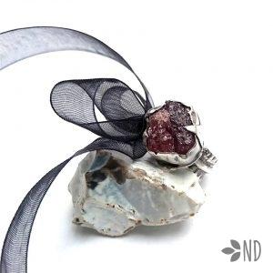 pierścień industrialny srebro bizuteria artystyczna