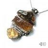 wisior surowy bursztyn bałtycki biżuteria artystyczna