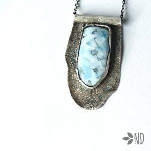 larimar wisior w srebrze