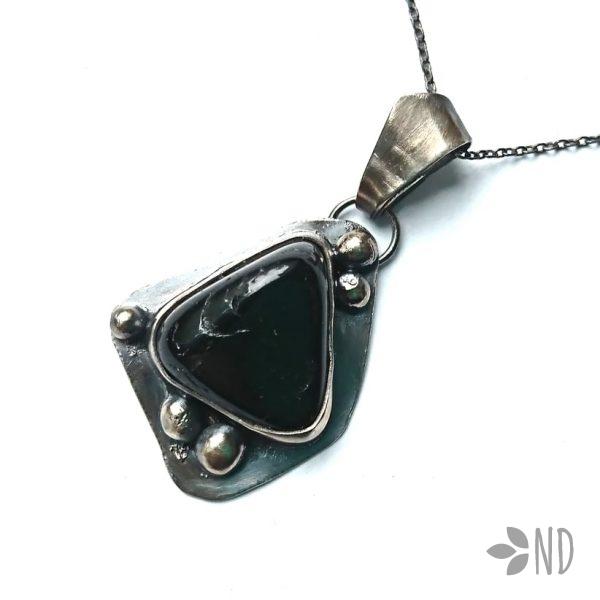 Turmalin czarny biżuteria artystyczna