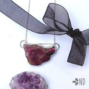 turmalin arbuzowy różowy biżuteria artystyczna