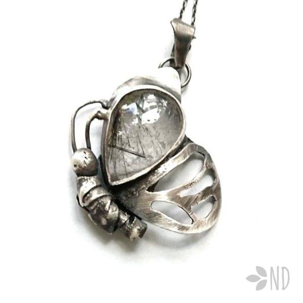 biżuteria artystyczna motyl