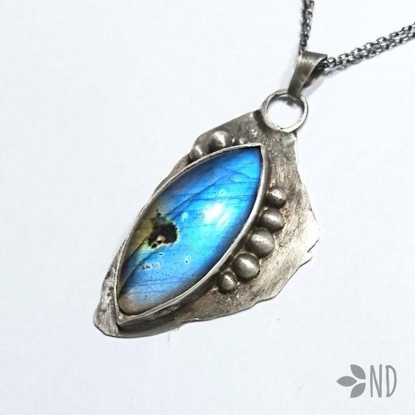 labradoryt niebieski biżuteria artystyczna