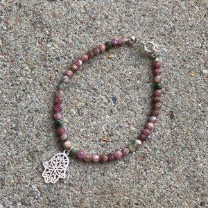 bransoletka różowy turmalin