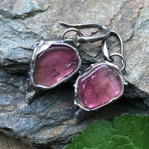 Kolczyki różowe turmaliny