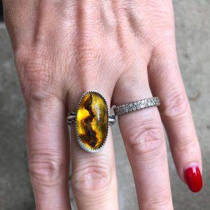 Pierścień bursztyn słoneczny