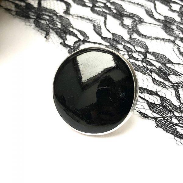 czarny turmalin przeciw negatywizmowi pierścień