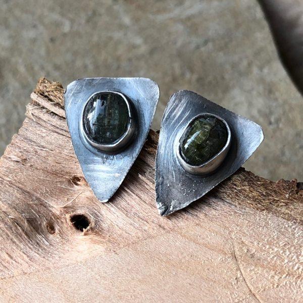 kolczyki zielony turmalin