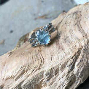 Akwamaryn pierścionek