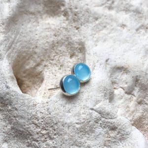 agat niebieski sztyfty