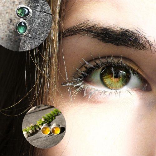 Jak dobierać kolor kolczyków srebrnych z kamieniami do koloru oczu?