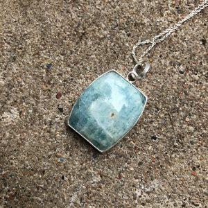 Akwamaryn naturalny w srebrze