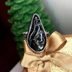 Pierścionek turmalin czarny