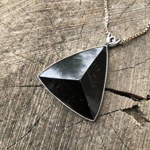Turmalin czarny srebro