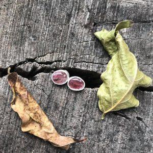 Kolczyki sztyfty turmalin różowy