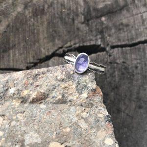 Tanzanit pierścionek