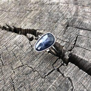Szafir pierścionek regulowany