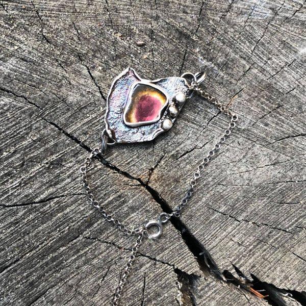 Turmalin arbuzowy bransoletka