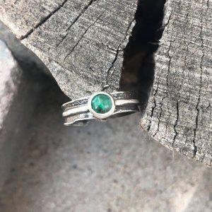 Szmaragd szlachetny pierścionek