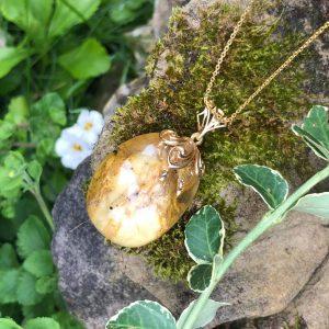 Bursztynowe jajo wisior